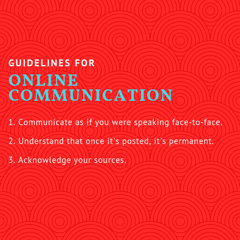 Netiquette: guidelines for online behaviour